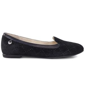 UGG | Bentile Diamond Quilted Black Ballet Flats